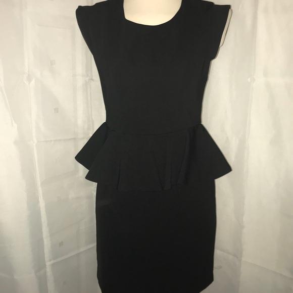 Mm Couture Dresses Black Cap Sleeve Peplum Dress Poshmark